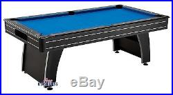 Blue Pool Table Billiards Traditional Game Cues 7 Foot Set Accessories Balls New