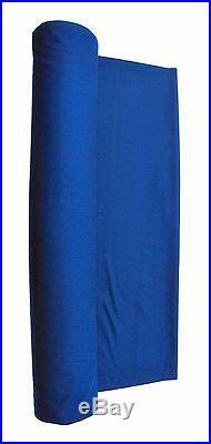 Blue Worsted Fast Speed Pool Table Cloth Billiard Felt For 9' Table 144 X 61