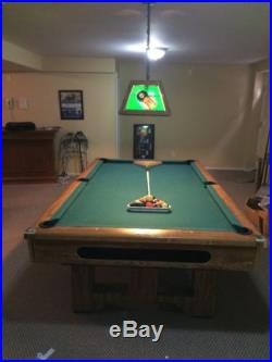 Brighton brunswick oak trimed pool table