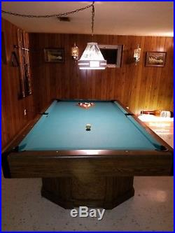 Brunkswick Billards Pool Table 8ft x 4ft Solid Slate and Sack Pockets