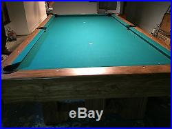Brunswick 4' x 8' With 1 slate Pool Table
