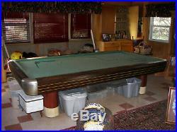 Brunswick 5' x 10' Anniversary Billiard Table c. 1945 walnut