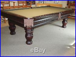 Brunswick 8 Foot Pool Table. Model Cromwell