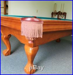 Brunswick 8' Green Felt Bradford ll Mahogony Pool Table GORGEOUS