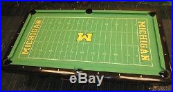 Brunswick 8' Pool Table University of Michigan Football Field