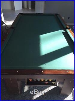Brunswick 8' Pool Table Vintage Good Condition