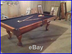 Brunswick 8 foot leather drop pocket pool table