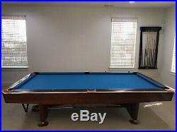 Brunswick 9 Gold Crown III Pool Table with Simonis Cloth