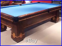 Brunswick 9' Medalist Pool Table - Perfectly Restored 1926