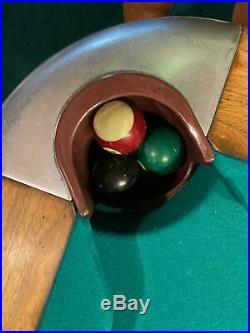 Brunswick Anninversary Mid Century Modern 8' pool table Balke Collender USA