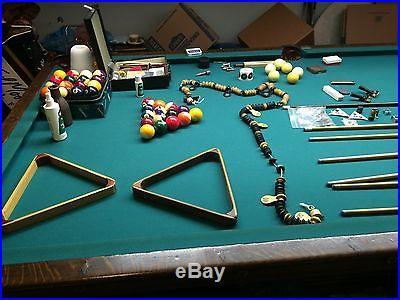 Brunswick Antique 9 Foot Pool Table