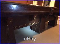 Brunswick Antique Balke Collender CO. Kling 6 Leg Billiard Table 1909 9' X 5