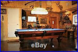 Brunswick Antique Pool Table Circa 1894 Model Manhattan Vintage Original