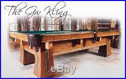 Brunswick Antique Pool Table KLING 8' oversize replica by Golden West Billiards