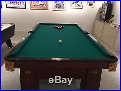 Brunswick Antique Regina Pool Table