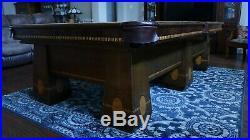 Brunswick Antique Restored Medalist Pool Table 9 Foot