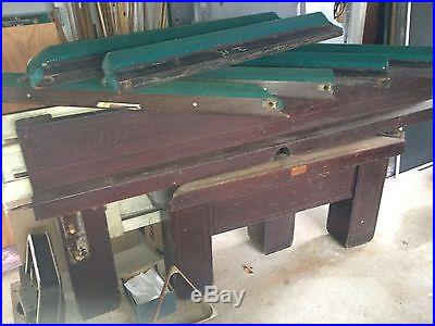 Brunswick Antique pool table Madison Mission style 9ft