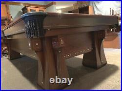 Brunswick Arcade 9 Ft Antique Pool Table