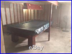 Brunswick Balke Callender Antique Pool Table circa 1916 Model Regina
