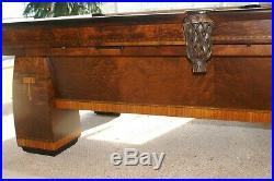 Brunswick Balke Collender Conqueror Antique Billiard and Pool Table