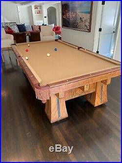 Brunswick Balke Collender Kling Antique 9' Billiard Pool Table Xllnt Condition