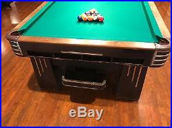 Brunswick Balke Collender Monarch Cushion Antique Pool Table Arcade-Style 1930s