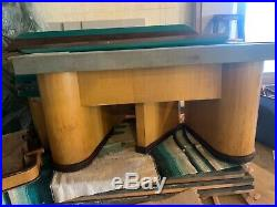 Brunswick Balke Commander Antique Pool Table circa 1930