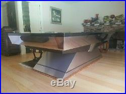 Brunswick Better ART DECO Adler Diamond SS pool table. Owned by Tom Cruise