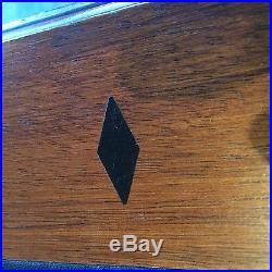 Brunswick BilliardPool Table 8' Greenbriar 2 Matte Blk Chestnut with Rack & Cues