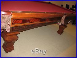 Brunswick Billiards Ashbee Pool Table True 8' Destinctive Hand Inlaid Details