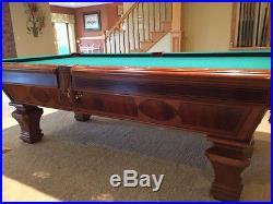 Elegant Brunswick Billiards Pool Table Sorrento Mahogany 8u0027 Destinctive Inlaid  Detail