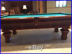 Awesome Brunswick Billiards Pool Table Sorrento Mahogany 8u0027 Destinctive Inlaid  Detail
