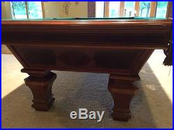 Great Brunswick Billiards Pool Table Sorrento Mahogany 8u0027 Destinctive Inlaid  Detail