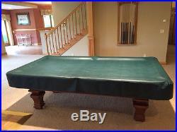 Brunswick Billiards Pool Table Sorrento Mahogany 8u0027 Destinctive Inlaid  Detail