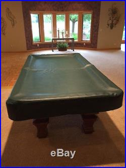 Wonderful Brunswick Billiards Pool Table Sorrento Mahogany 8u0027 Destinctive Inlaid  Detail