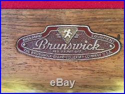Brunswick Centennial Art Deco Style 9 Foot Billiard/pool Table