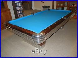 Brunswick Centennial Pool Table - 8' Oversize. 1950 Totally Restored
