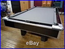 Brunswick Centurion 9' Slate Top Billiards Pool Table Gloss Black / Brushed Alum
