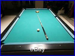Brunswick Centurion Billiards Pool Table 9' Slate Top Gloss Black