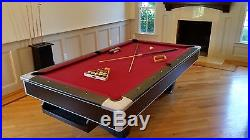 Brunswick Centurion Pool Table with Gully Return and Accessories