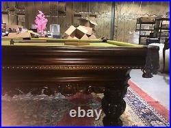 Brunswick Cromwell Billiards Pool Table 9ft Beautiful Hardwood Matching Cue Rack