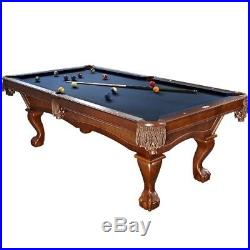 Brunswick Danbury 8 Foot Pool Table with Blue Contender Cloth and Play Kit