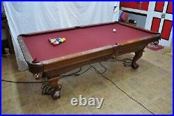 Brunswick Danbury 8' Pool Table with 1 Slate and Teflon Felt Upgrades