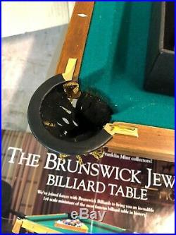 Brunswick Franklin Mint Mini 1885 Pool Table Replica