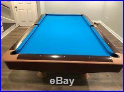 Brunswick Gold Crown 9' Pool Table Mahogany Drop pocket