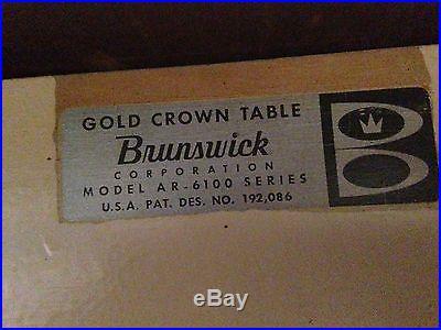 Brunswick Gold Crown AR-6100 Series Table