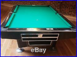 Brunswick Gold Crown III 9 ft. Pool Table Hi TECH BLACK ball return