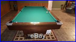 Brunswick Gold Crown III Pool Table 8' Pro with Ball Return Billiards Table