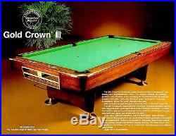 Brunswick Gold Crown III Pool Table Model AK from mid to late 1970s