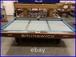 Brunswick Gold Crown IV (4) 9 foot pool table with ball return